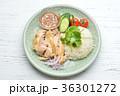 タイ料理、エスニック料理、海南鶏飯、カオマンガイ。パクチーを添えて。 36301272