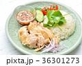 タイ料理、エスニック料理、海南鶏飯、カオマンガイ。パクチーを添えて。 36301273