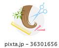 髪 カット はさみのイラスト 36301656