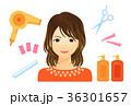 美容室 女性 人物のイラスト 36301657