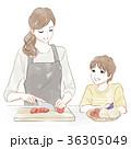 料理する親子 36305049