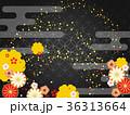 和柄 菊 梅のイラスト 36313664