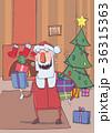 サンタ サンタクロース クラウスのイラスト 36315363