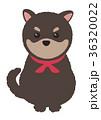 年賀状素材 犬 戌のイラスト 36320022
