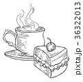 ケーキ カップ コップのイラスト 36322013