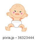 おむつ被れで泣く赤ちゃん 36323444