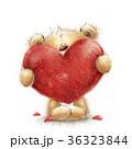 くま ハート ハートマークのイラスト 36323844