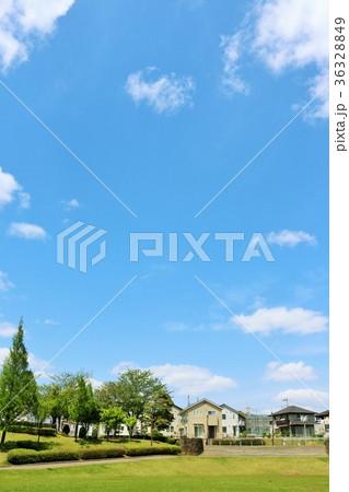 初夏の青空と公園からの風景 36328849