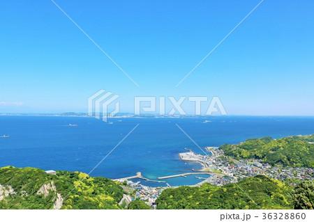 千葉県 青空と青い海の房総半島 36328860