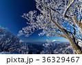 富士山 樹氷 山の写真 36329467