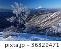 富士山 樹氷 山の写真 36329471