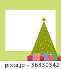 クリスマスツリー フレーム クリスマスプレゼントのイラスト 36330542