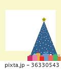 プレゼント クリスマスツリー フレームのイラスト 36330543