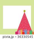 プレゼント クリスマスツリー フレームのイラスト 36330545