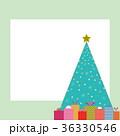 プレゼント クリスマスツリー フレームのイラスト 36330546