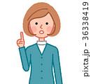 女性 人物 指差しのイラスト 36338419