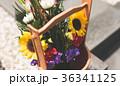 墓参り 墓 桶の写真 36341125