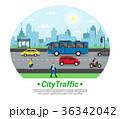 街 都市 街路のイラスト 36342042