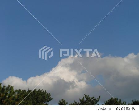 深まった秋の青空と白い雲 36348546