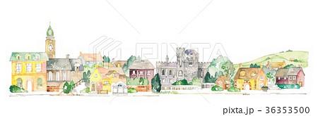 ヨーロッパの街並と田園風景 36353500