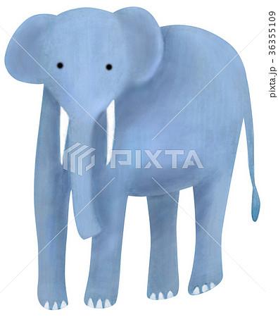 手描き 動物 どうぶつ ゾウ 36355109