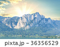 Lake and Mountains on sky background 36356529