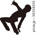 シルエット フィギュアスケート 男子 クリムキンイーグル ポーズ 36358505