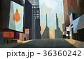都市 ロード ビルのイラスト 36360242