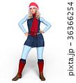 クリスマス 女性 ポーズのイラスト 36366254
