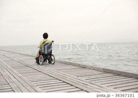 車椅子 後ろ姿 36367101