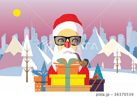 Cartoon santa claus with a gift of toys 36370539 cartoon santa claus with a gift of toys negle Image collections