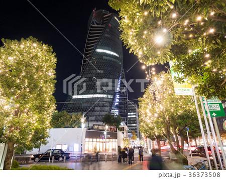 名古屋駅前 モード学園スパイラルタワーズ とイルミネーション ミッドランドスクエア前 36373508