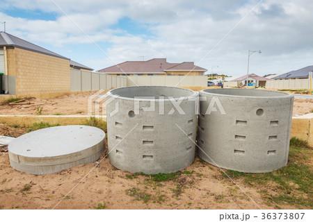 Two concrete soakwellsの写真素材 [36373807] - PIXTA