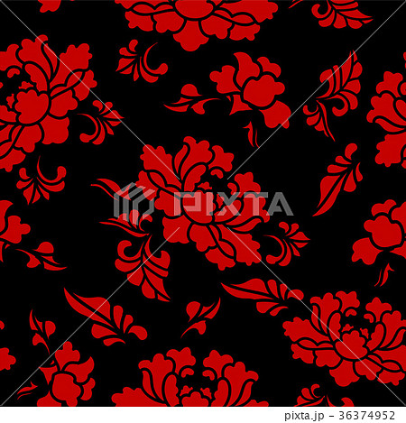 Seamless Chinese Botanic Garden Flower Background  36374952