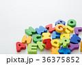 積み木 アルファベット カラフルの写真 36375852