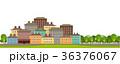 市街 町 都市のイラスト 36376067