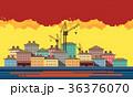 抽象 抽象的 市街のイラスト 36376070