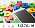 積み木 アルファベット カラフルの写真 36376146