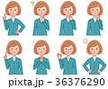 女性 感情 表情のイラスト 36376290