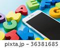 積み木 アルファベット カラフルの写真 36381685