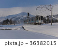 電車 大糸線 白馬村の写真 36382015
