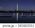 東京スカイツリー ライトアップ シャンパンツリーの写真 36382031