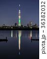 東京スカイツリー ライトアップ シャンパンツリーの写真 36382032
