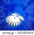 歯車 デジタル 世界地図のイラスト 36385044