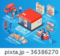 郵便 ポスト 配置のイラスト 36386270
