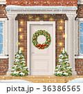 ドア 戸 クリスマスのイラスト 36386565