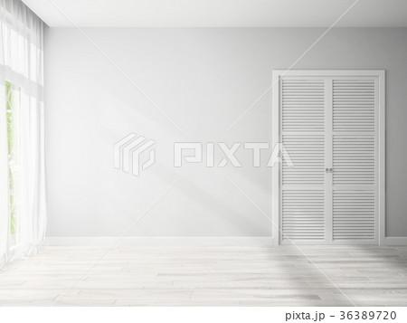 Interior empty room 3D rendering 36389720