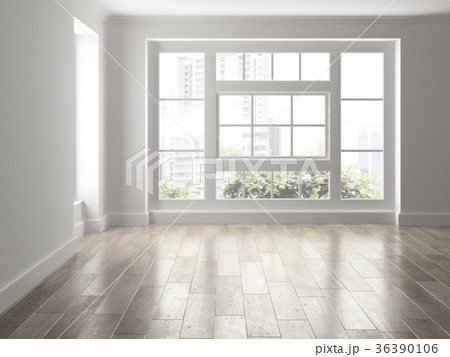 Interior empty room 3D rendering 36390106