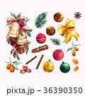 クリスマス 水彩画 デコレーションのイラスト 36390350