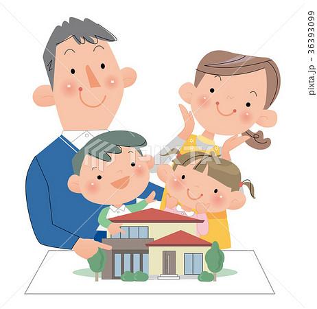 家族そろって、マイホームの計画をする。 36393099